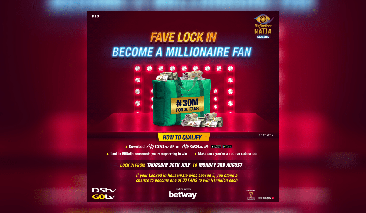 BBNaija: Lock-In Your Fave Housemate and Stand a Chance to Become a Millionaire