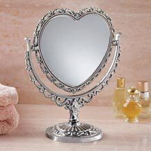 Heart-Shaped Vanity Mirror