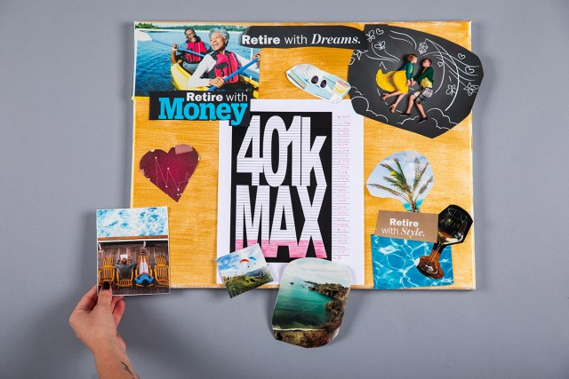 One of Heidi Nash's charts is incorporated in this vision board created by The Penny Hoarder.
