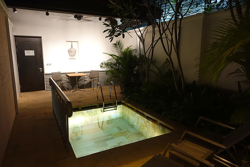 Our suite included a private plunge pool.