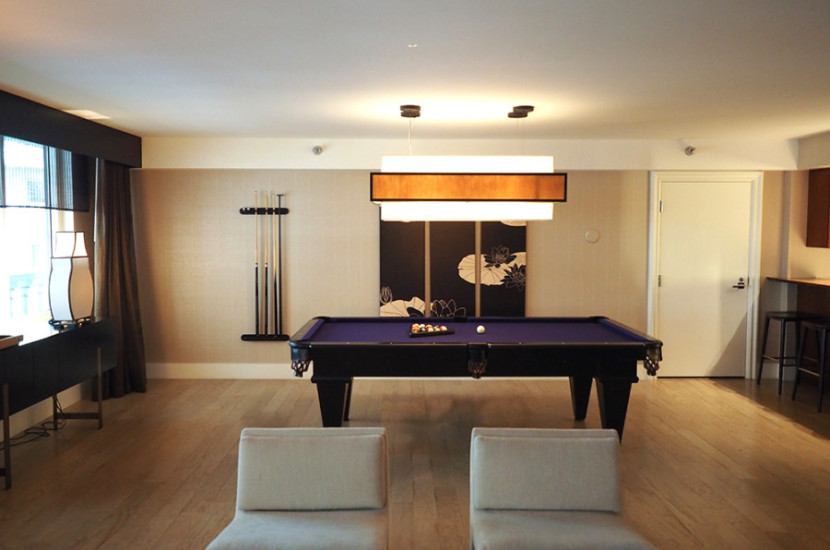 The pool table was a nice touch.