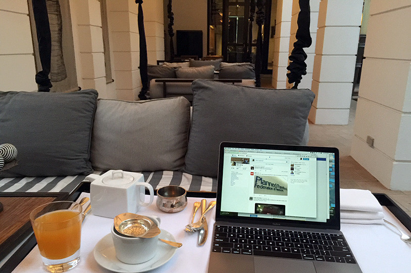 Not a bad place to get some work done and enjoy some tea in the morning!