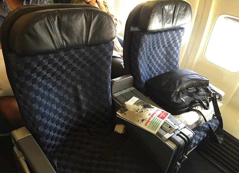 american marketing chair covers hawaii lycra cover hire perth comparing premium airline service to first class seats on s 757 which operates flights from lax