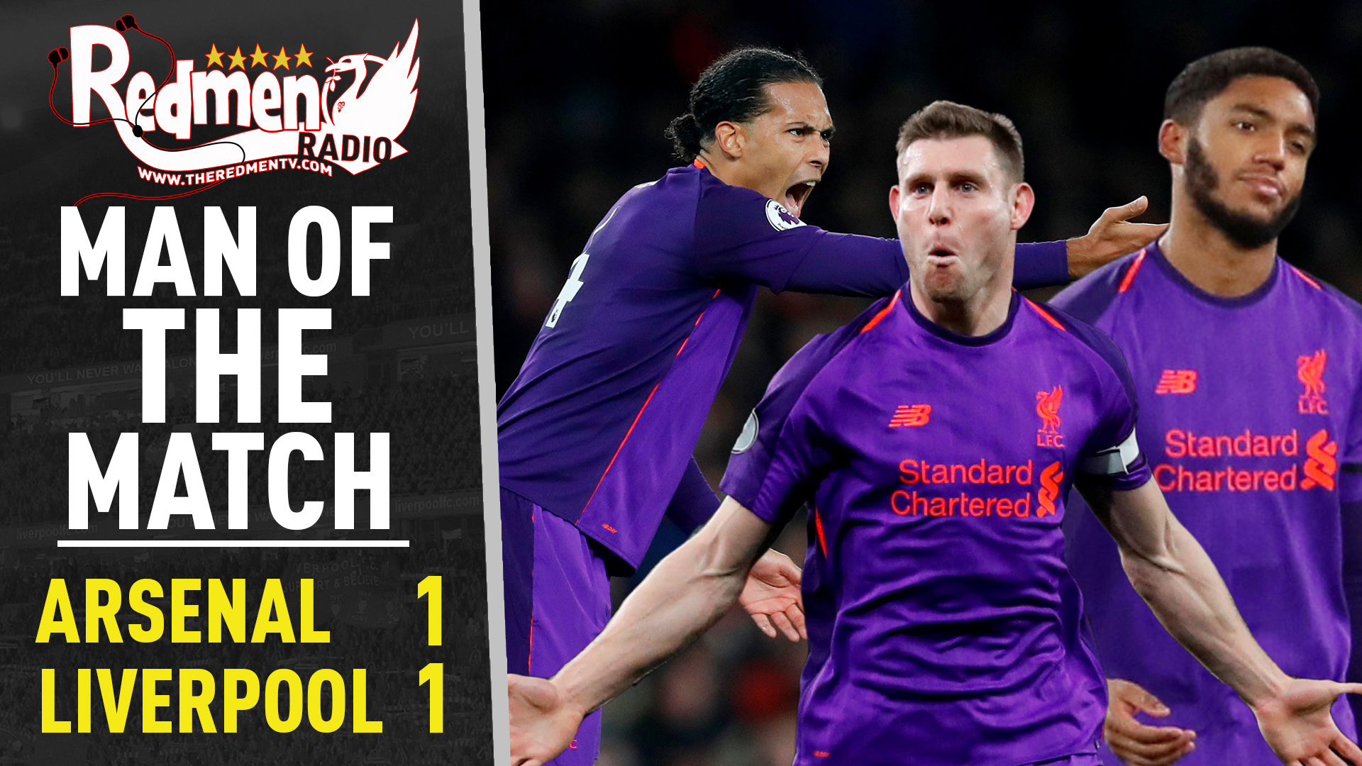 Arsenal 1-1 Liverpool | Man of the Match Podcast - The Redmen TV