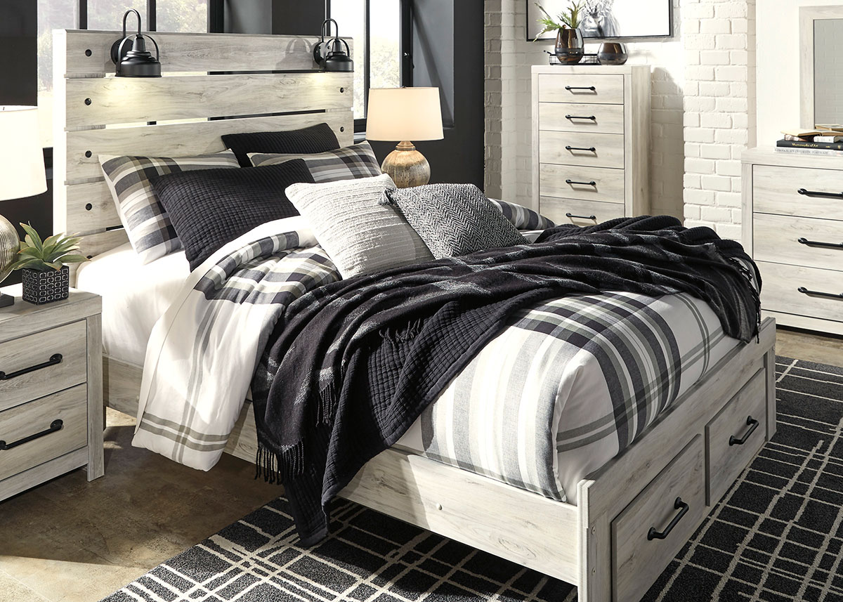 denver white 5 pc queen bedroom