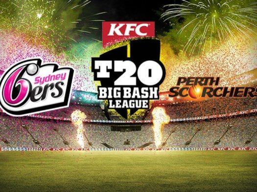 2017-18 Big Bash League - Sydney Sixers vs Perth Scorchers ...