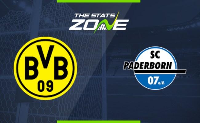 2019 20 Bundesliga Borussia Dortmund Vs Paderborn