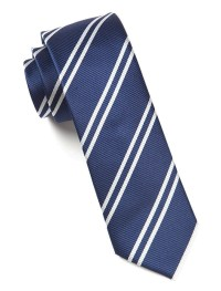 Navy Double Stripe Tie | Ties, Bow Ties, and Pocket ...