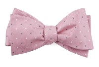 Soft Pink Suited Polka Dots Bow Tie | Ties, Bow Ties, and ...