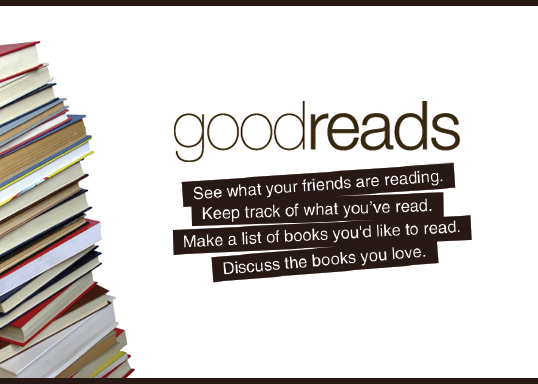 Image of Goodreads logo. Tagline reads: