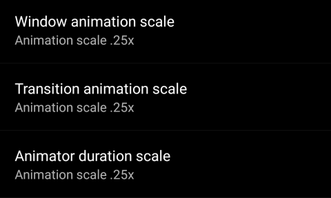 Animation Scale Settings
