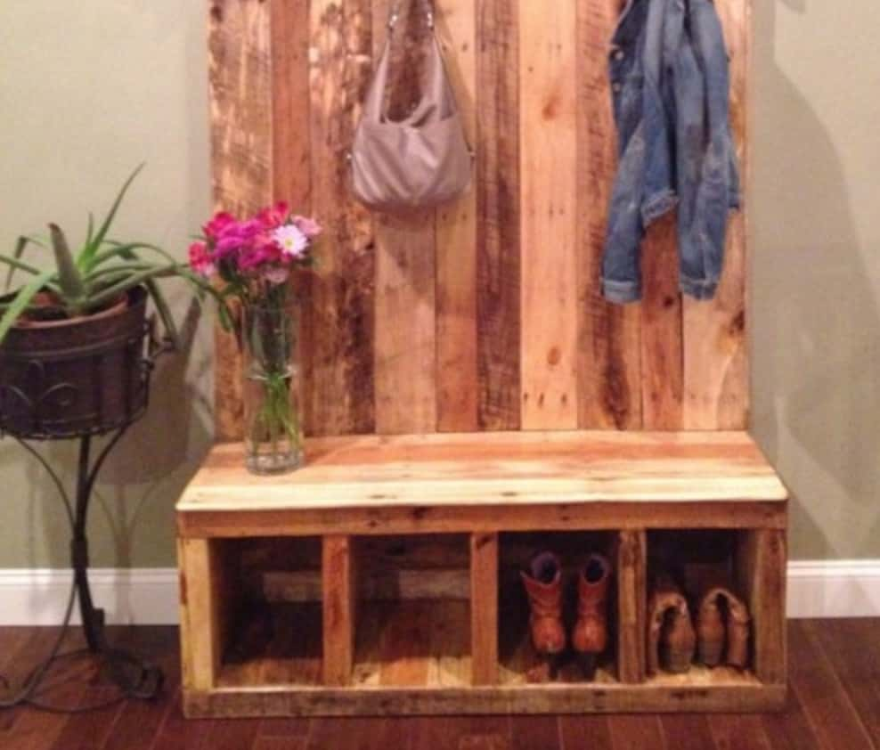 Shoe Rack Pallet Bench  The WHOot