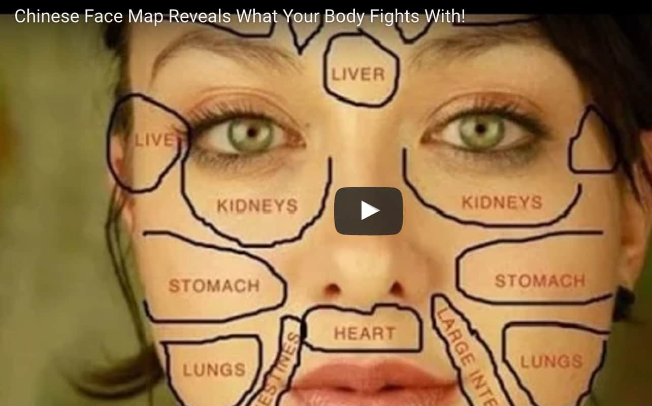 Chinese Face Mapping Skinysis Chart Video Instructions