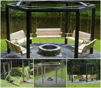 Pergola Fire Pit Swings DIY Project | The WHOot
