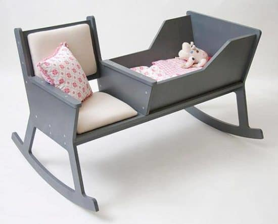 rocking chair crib combo water lounge chairs cradle perfect for your new baby this