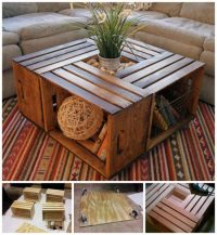 How To Make An Inexpensive Crate Coffee Table | The WHOot