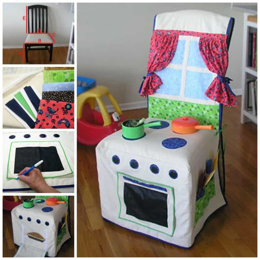 kitchen chair covers hanging europe cover play free pattern video tutorial via