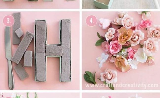 Floral Letters Diy Wall Art Easy Video Instructions