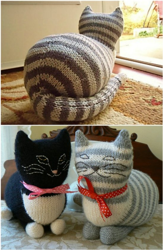 free cat cushion cover to knit # 63