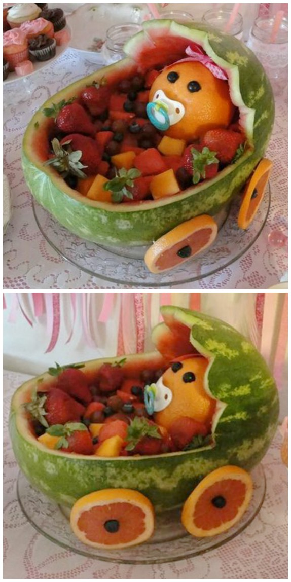 Baby Shower Watermelon Carving : shower, watermelon, carving, Carve, Watermelon, Carriage, Video, WHOot
