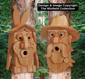 Birdhouse Wood Patterns Cedar Cowboy Amp Indian Birdhouse