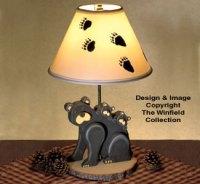 All Decorative Indoor - Black Bear Lamp Woodworking Plan