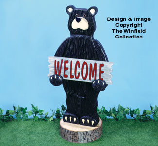 All Decorative Indoor  Welcome Bear Woodcraft Pattern