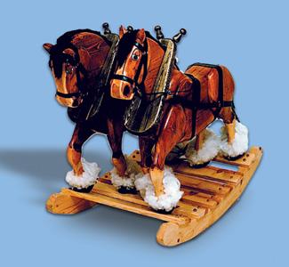 full size rocking horse plans