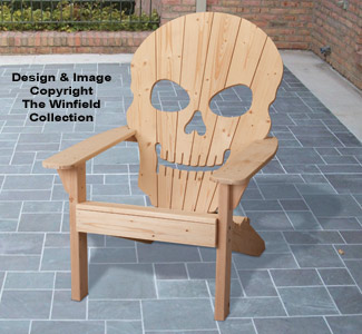 skull adirondack chair plans office stool with wheels furniture plan
