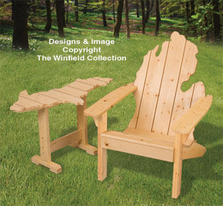 adirondack chair pattern pottery barn chairs living room furniture plans - michigan & up table