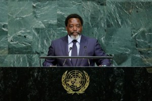 Joseph Kabila Kabange, President of the Democratic Republic of the Congo addresses the 72nd United Nations General Assembly at UN headquarters in New York, US, September 23, 2017. Credit: Reuters/Eduardo Munoz/File Photo