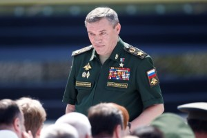 Chief of the General Staff of Russian Armed Forces, Valery Gerasimov, arrives for the opening ceremony of the International Army Games 2017 in Alabino, outside Moscow, Russia, July 29, 2017. Credit: Reuters/Maxim Shemetov