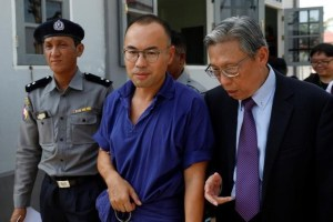 Singapore journalist Lau Hon Meng arrives for his court hearing in Zabuthiri court at Naypyitaw, Myanmar November 16, 2017. Credit: Reuters/Soe Zeya Tun/File Photo