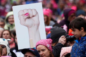People gather for the Women's March on Washington. Credit: Reuters/Shannon Stapleton