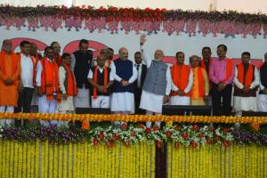 Gujarat CM Vijay Rupani and his cabinet ministers take oath on December 26. Credit: Twitter/@BJP4Gujarat