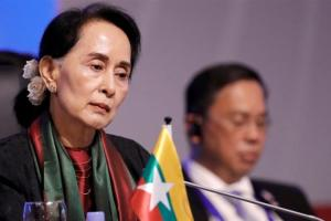 World over, criticism has poured in over Aung San Suu Kyi's inaction over alleged atrocities against Rohingyas in Rakhine. Credit: Dondi Tawatao/Reuters