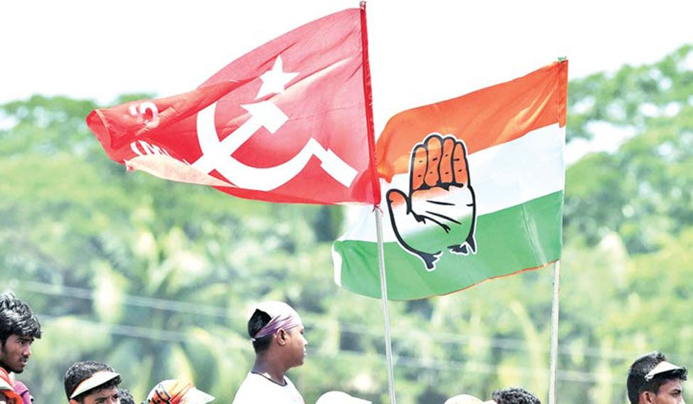 Whether or not to form a pre-poll alliance with the Congress has been a contentious issue within the CPI(M). Credit: PTI