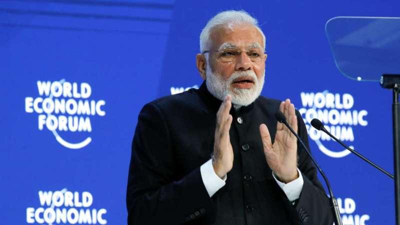 Prime Minister Narendra Modi in Davos. Credit: Reuters
