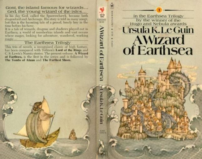 Book cover of a wizard of EarthSea, written by Ursula Le Guin. Credit: Twitter