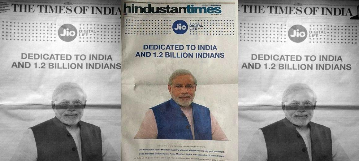 Modi in Reliance Jio ad. Credit: Twitter