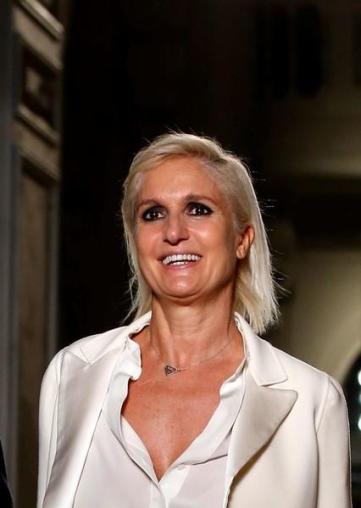 Italian designer Maria Grazia Chiuri. Credit: Reuters/Gonzalo Fuentes