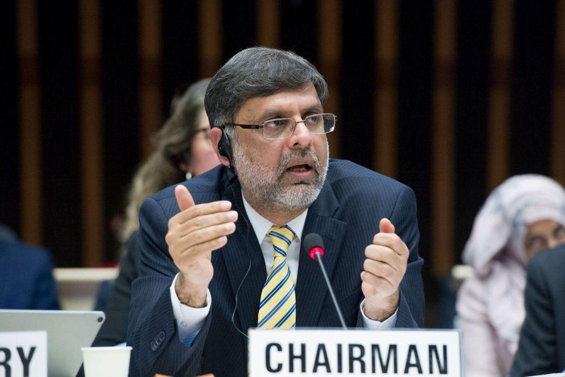 Assad Hafeez, chairman of the WHO EB. Credit: WHO
