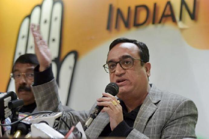 Congress president Ajay Maken. Credit: PTI