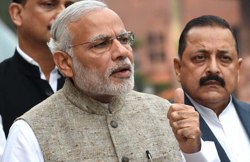 Prime Minister Narendra Modi chose to use his Parliament speech to lash out and defend his government's record. Credit: PTI