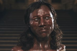 Cheddar Man's facial reconstruction. Credit: Channel 4