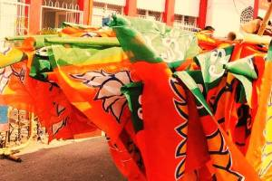 The BJP central office collected 98.33% (Rs 1194.21 crore) of the total funds collected by the party, while its Goa unit collected the second highest amount of Rs 16.77 crore. Credit: PTI