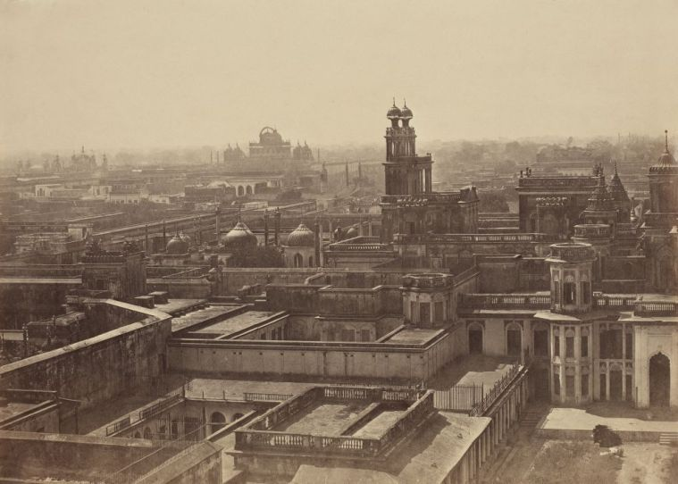 Ahmad Ali Khan's 'Lucknow before the Mutiny – Looking from the Chattar Manzil towards the Qaisarbagh' from The Agra Circle Album. Credit: The Alkazi Collection of Photography