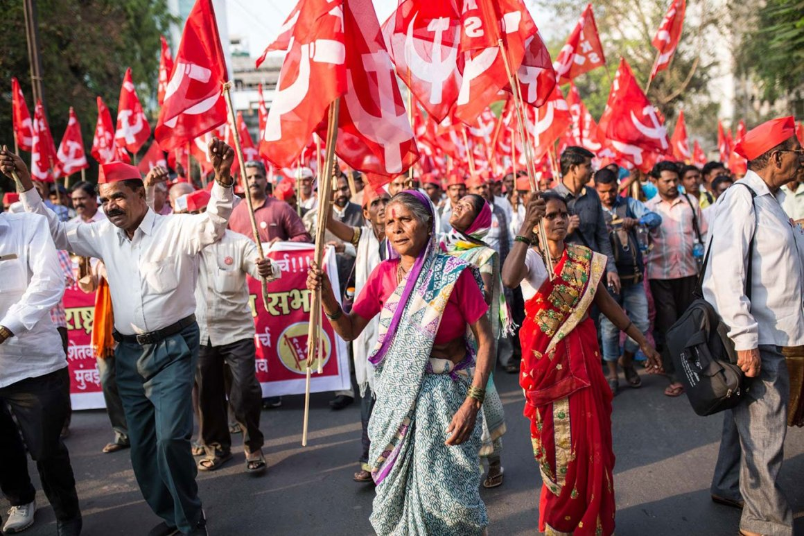 Image result for farmers protest mumbai