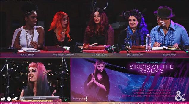 """Captures d'écran du jeu """"Sirens of the Realms"""", GM par Satine Phoenix."""