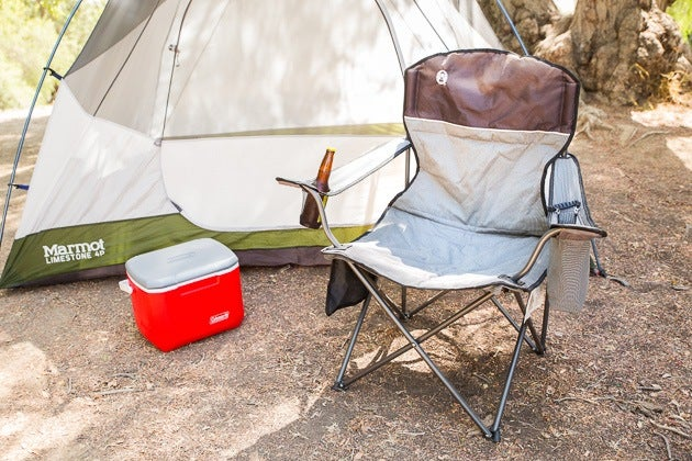 coleman camping oversized quad chair with cooler steel navy the best portable camp chairs: reviews by wirecutter | a new york times company